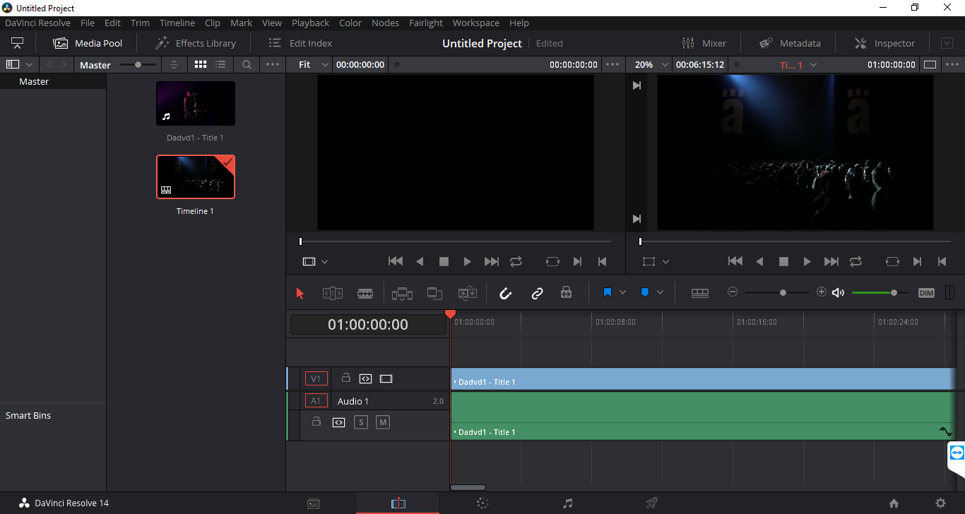 resolve import media to timeline